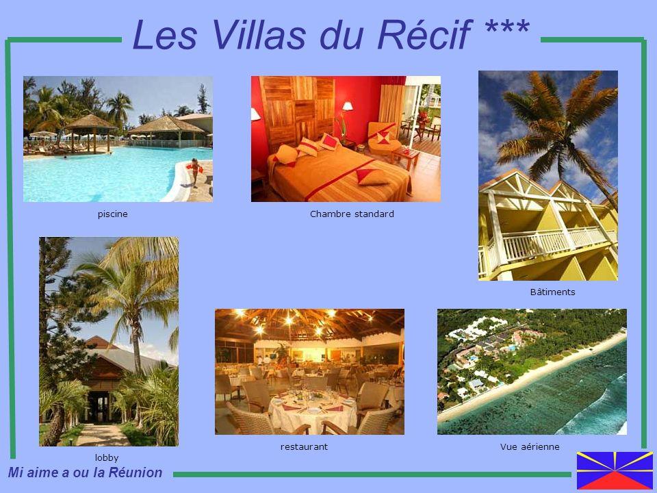 Les Villas du Récif *** Mi aime a ou la Réunion piscine