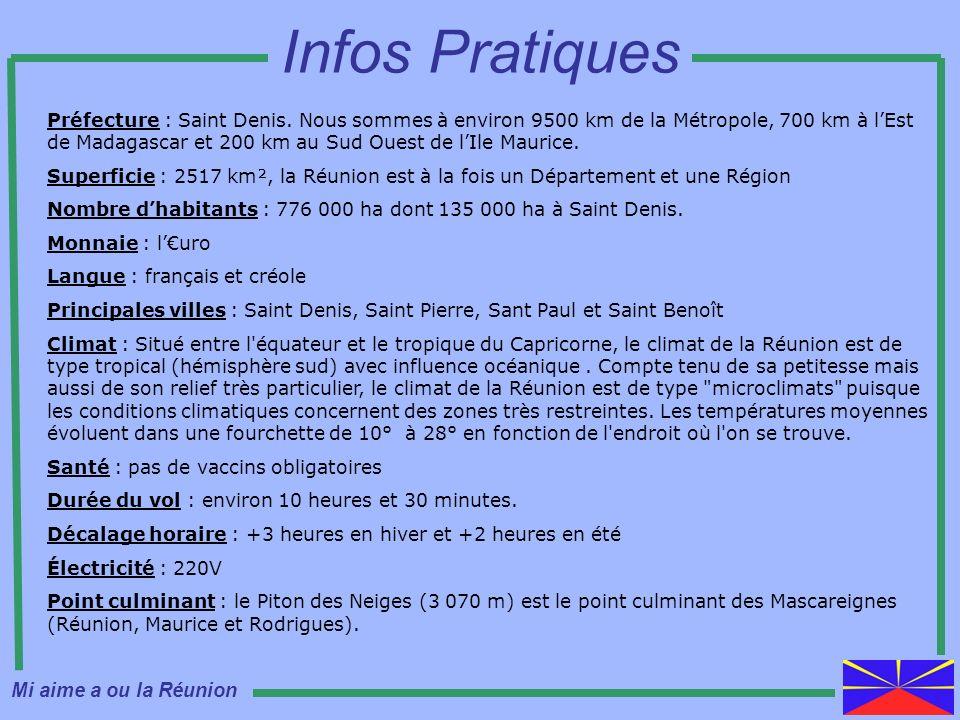 Infos Pratiques Mi aime a ou la Réunion