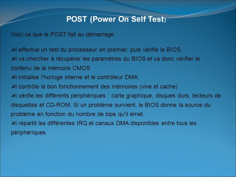 POST (Power On Self Test)
