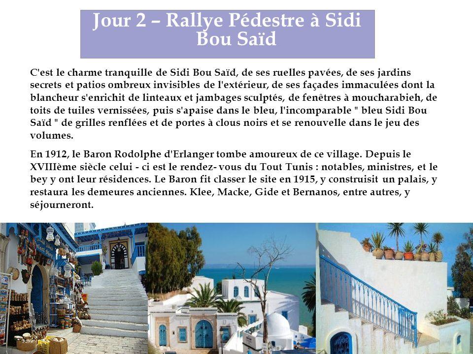 Jour 2 – Rallye Pédestre à Sidi Bou Saïd