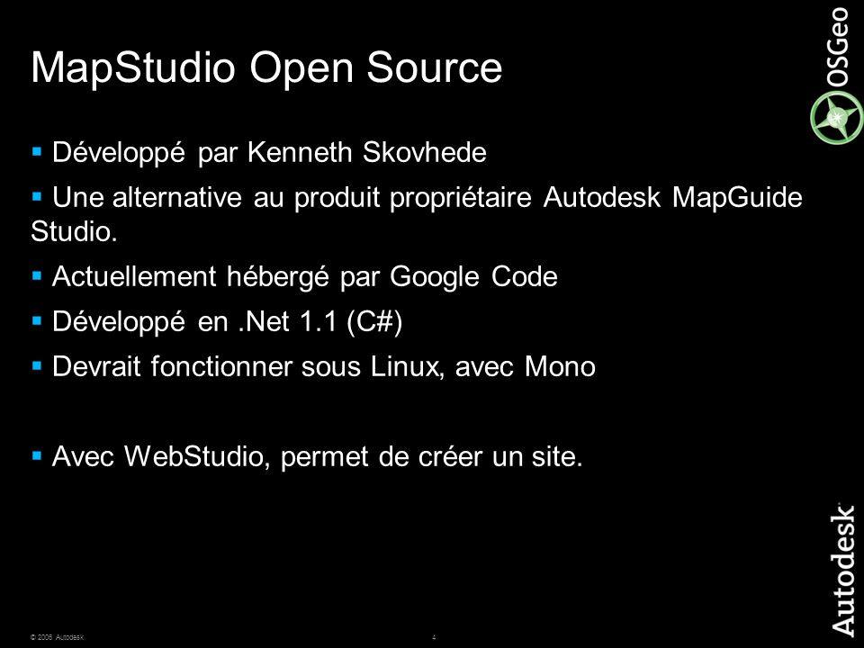 MapStudio Open Source Développé par Kenneth Skovhede