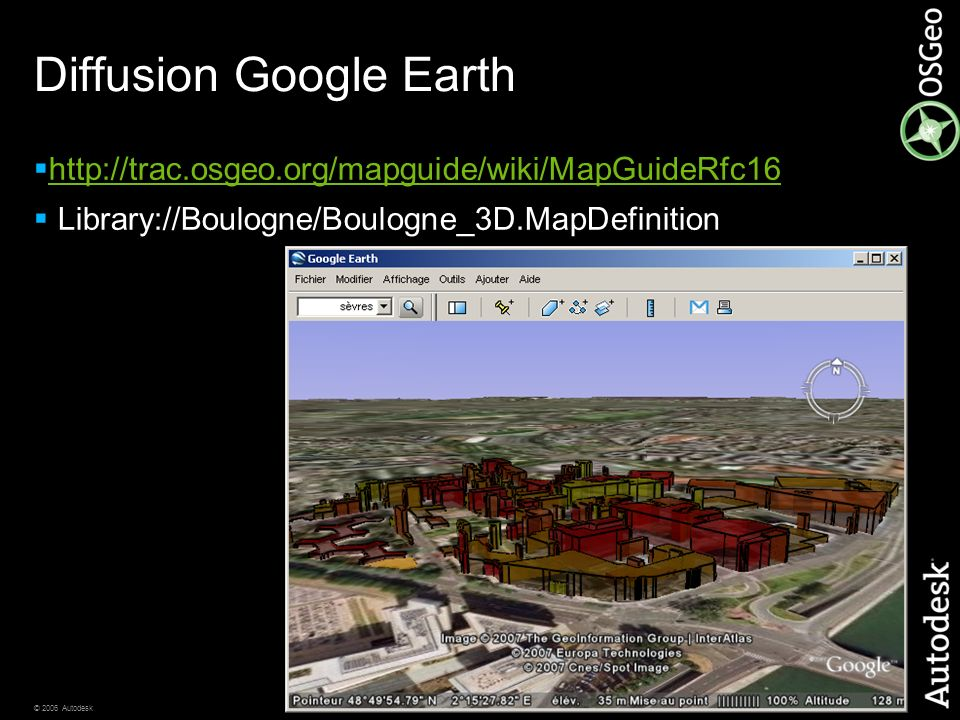 Diffusion Google Earth
