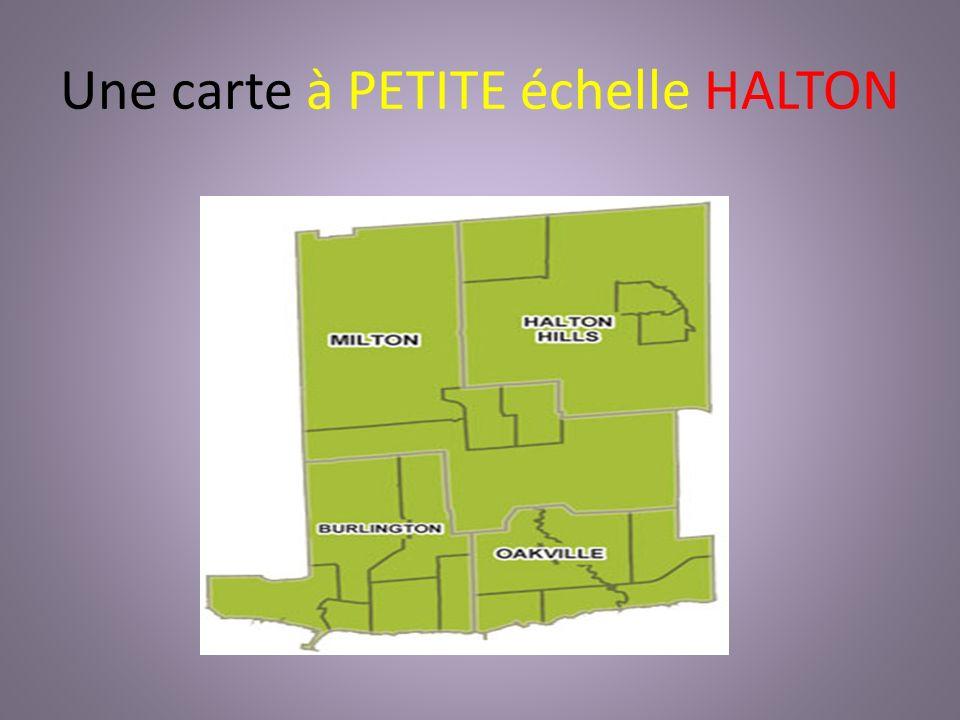 Une carte à PETITE échelle HALTON