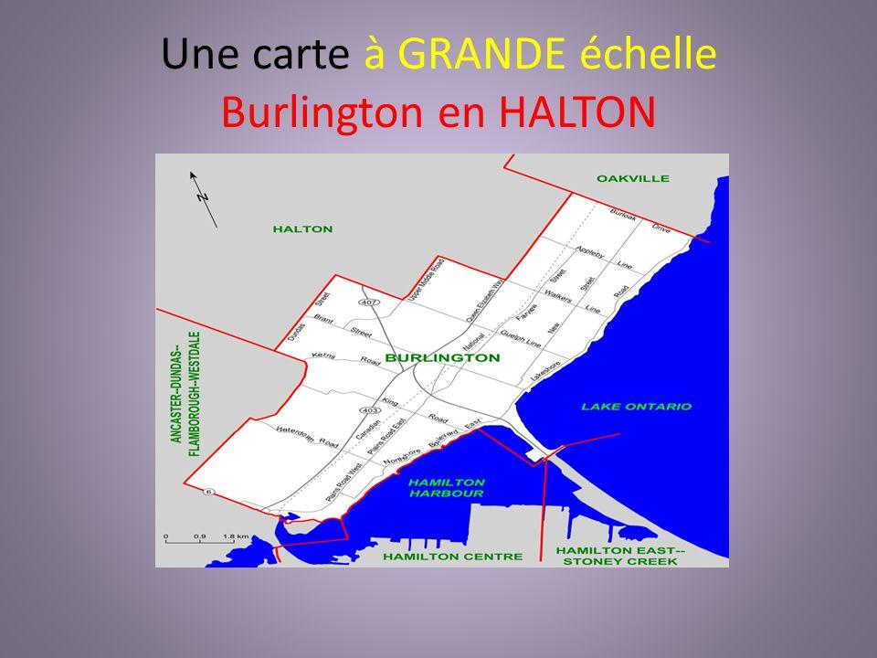 Une carte à GRANDE échelle Burlington en HALTON
