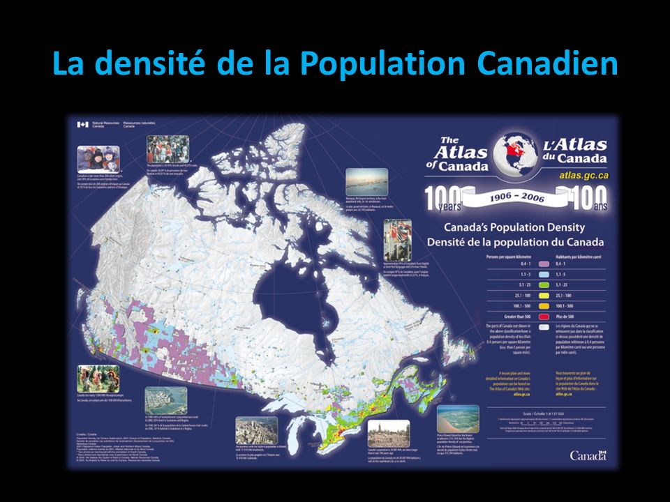 La densité de la Population Canadien