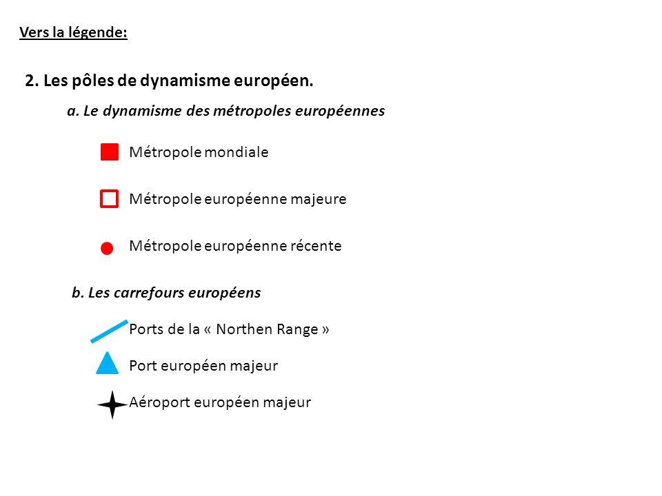 2. Les pôles de dynamisme européen.