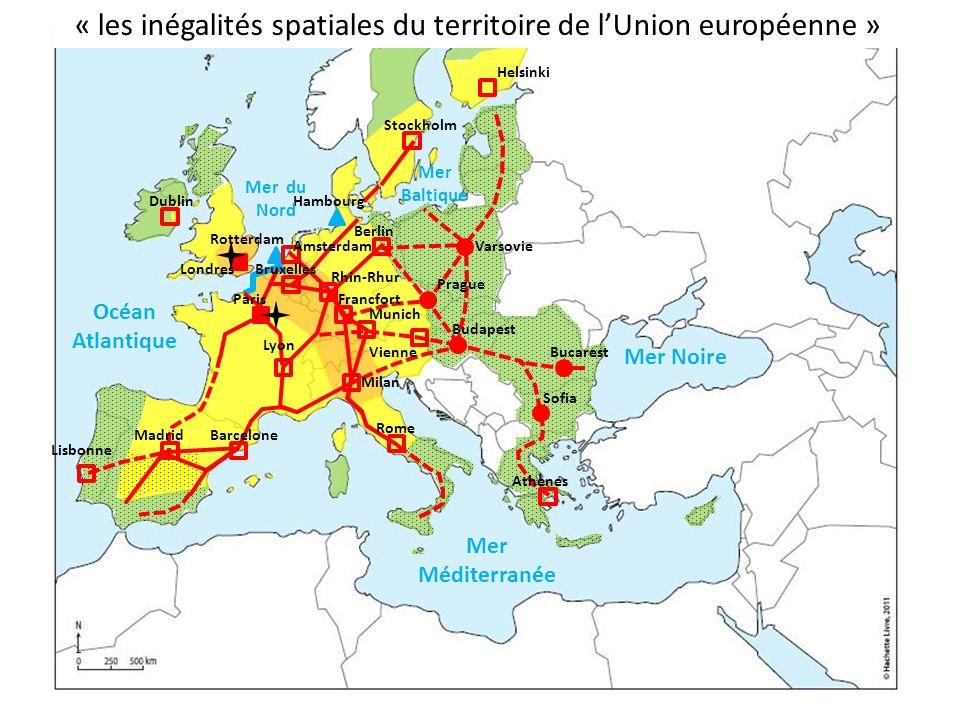 « les inégalités spatiales du territoire de l'Union européenne »