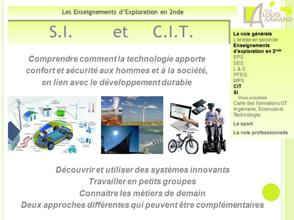 S.I. et C.I.T. Comprendre comment la technologie apporte