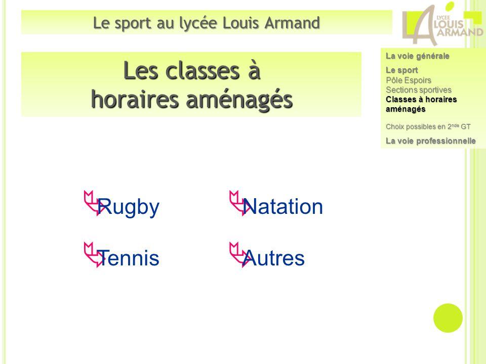 Le sport au lycée Louis Armand