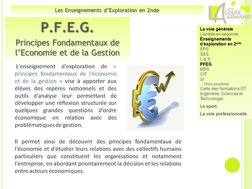 P.F.E.G. Principes Fondamentaux de l'Economie et de la Gestion