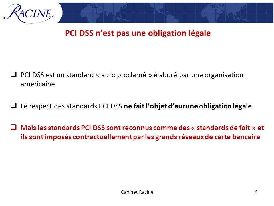 PCI DSS n'est pas une obligation légale
