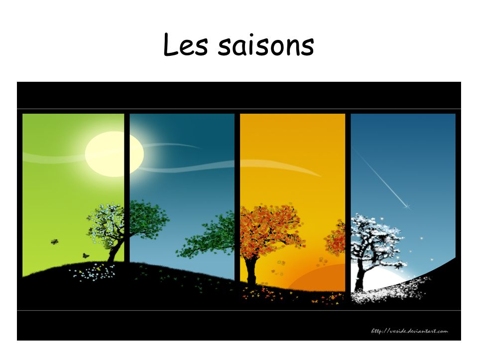 Les saisons The Seasons (literally translates as the stations)