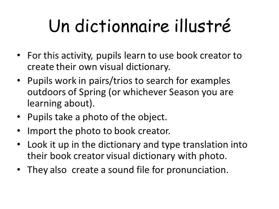 Un dictionnaire illustré