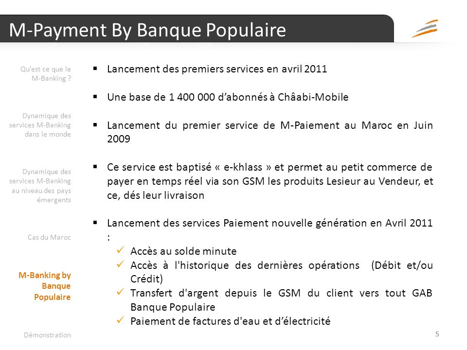 M-Payment By Banque Populaire