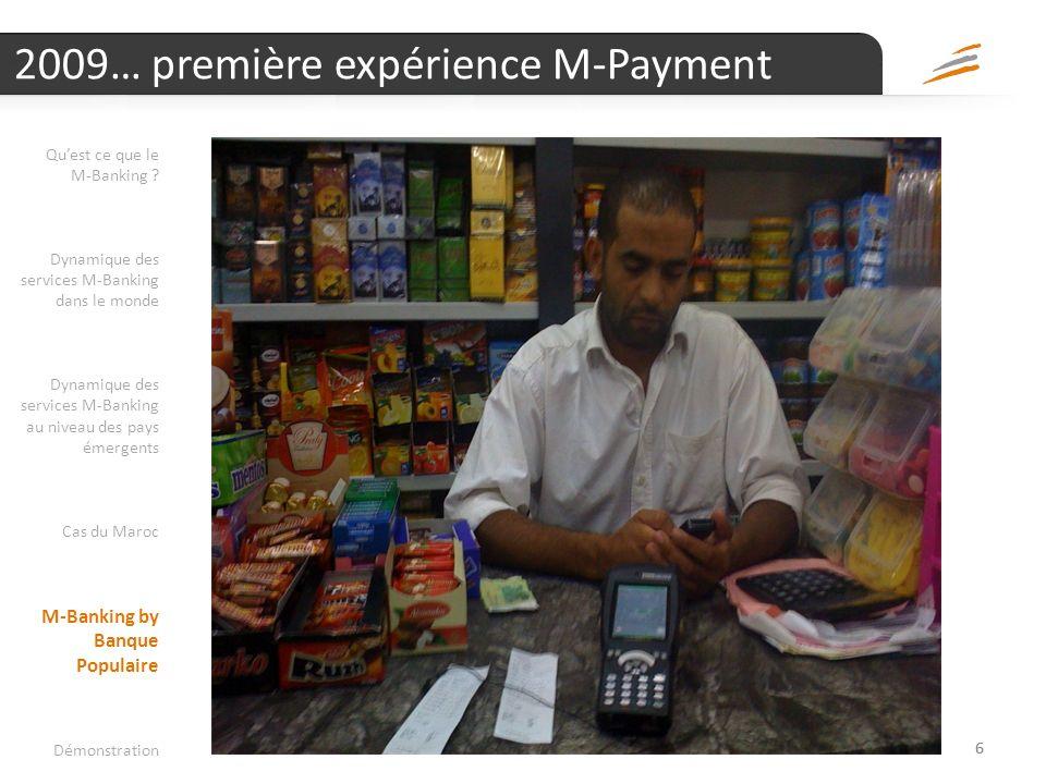 2009… première expérience M-Payment