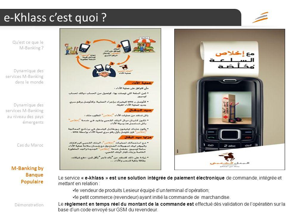 e-Khlass c'est quoi M-Banking by Banque Populaire Qu'est ce que le