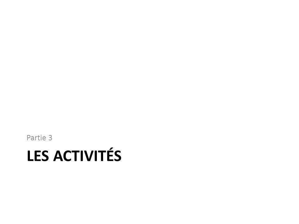 Partie 3 Les activités
