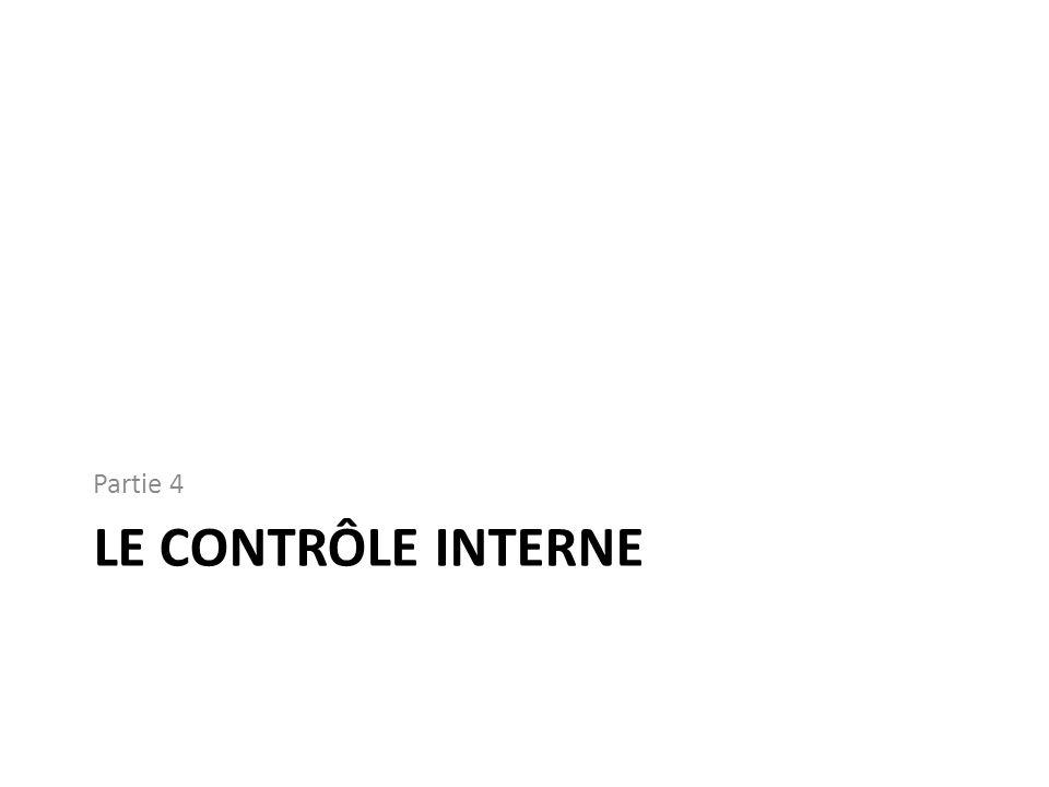 Partie 4 Le contrôle interne