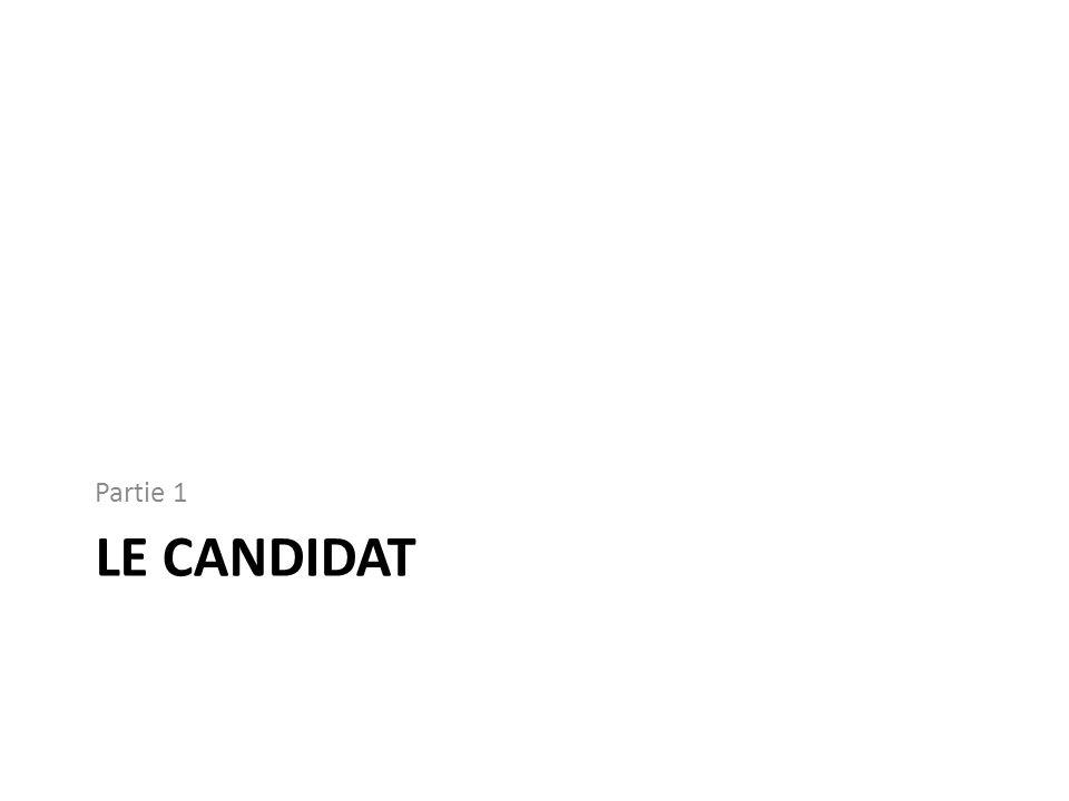 Partie 1 LE candidat