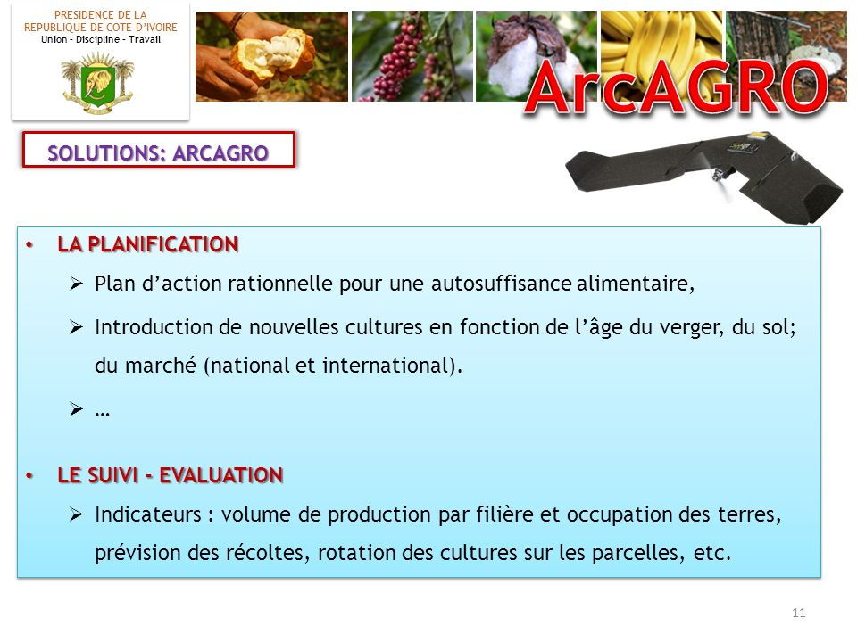 ArcAGRO SOLUTIONS: ARCAGRO LA PLANIFICATION