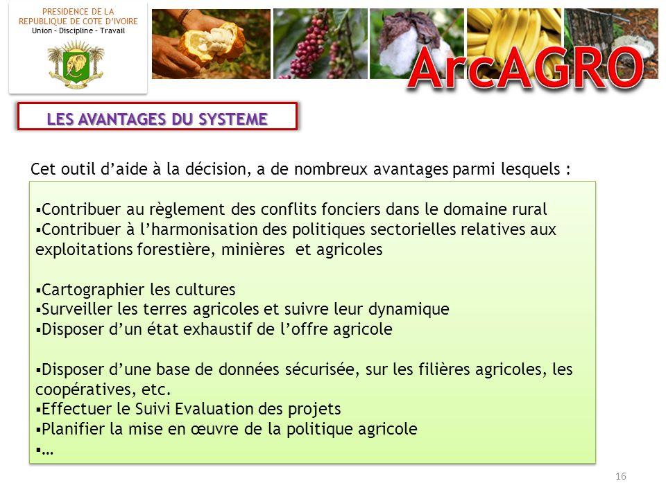 ArcAGRO LES AVANTAGES DU SYSTEME