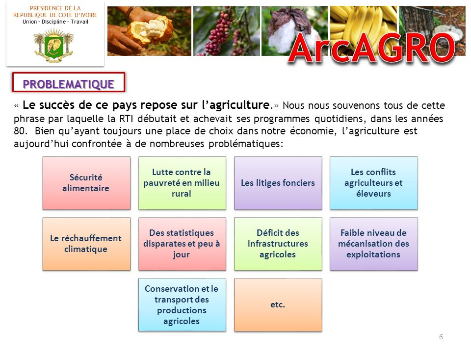 ArcAGRO PROBLEMATIQUE