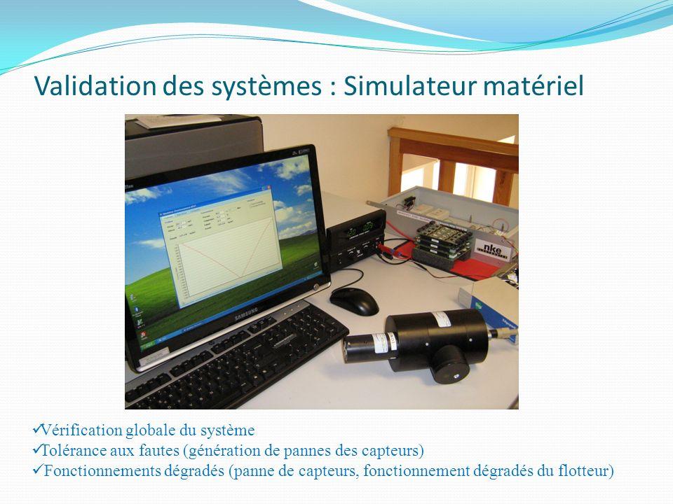 Validation des systèmes : Simulateur matériel