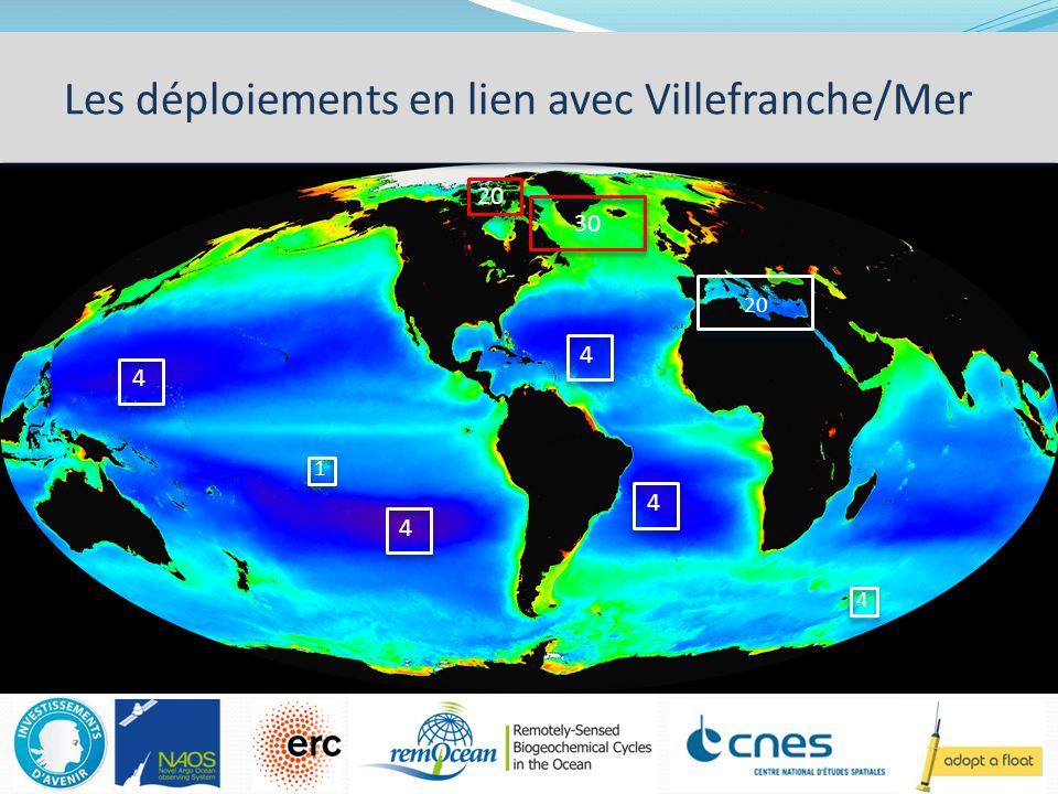 Les déploiements en lien avec Villefranche/Mer