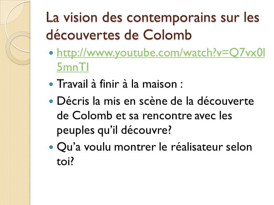 La vision des contemporains sur les découvertes de Colomb
