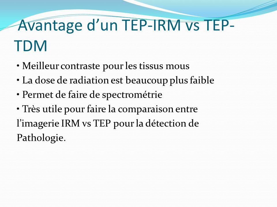 Avantage d'un TEP-IRM vs TEP-TDM