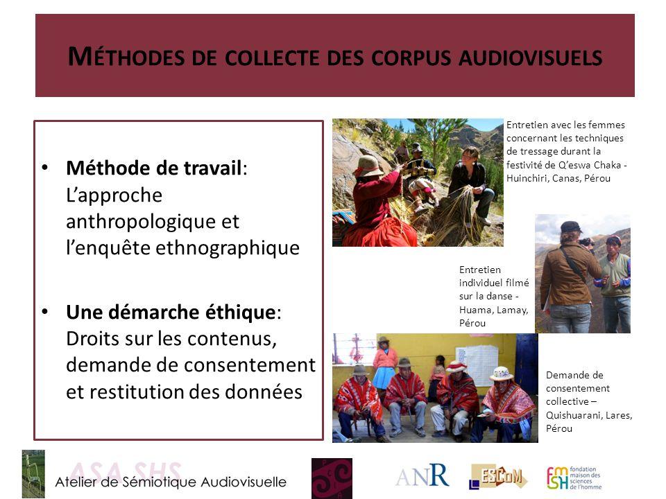 Méthodes de collecte des corpus audiovisuels