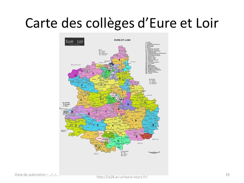 Carte des collèges d'Eure et Loir