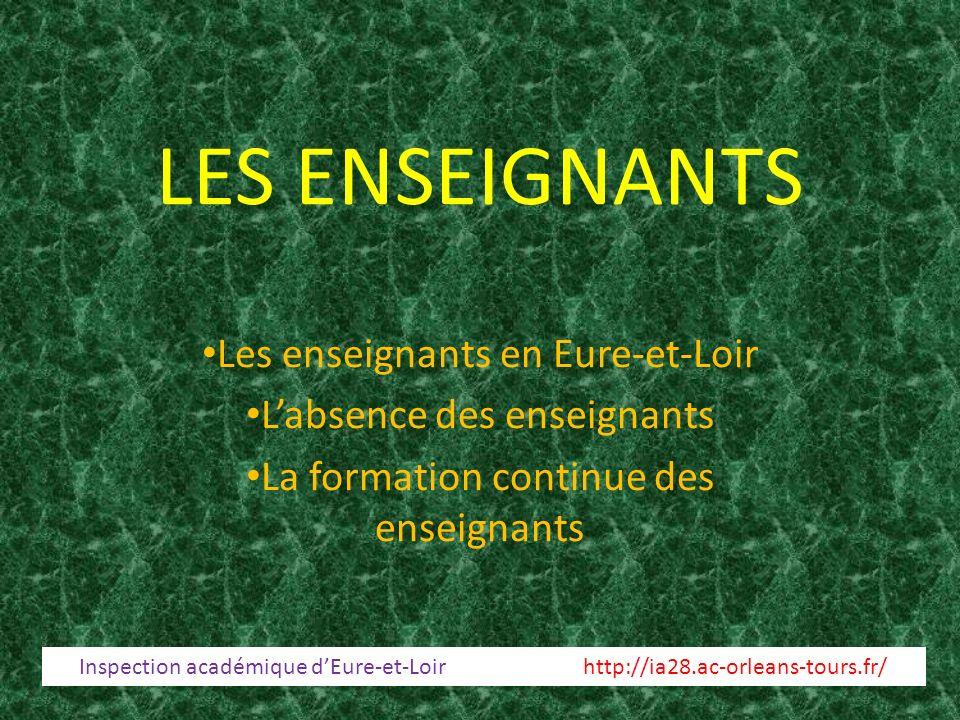 LES ENSEIGNANTS Les enseignants en Eure-et-Loir