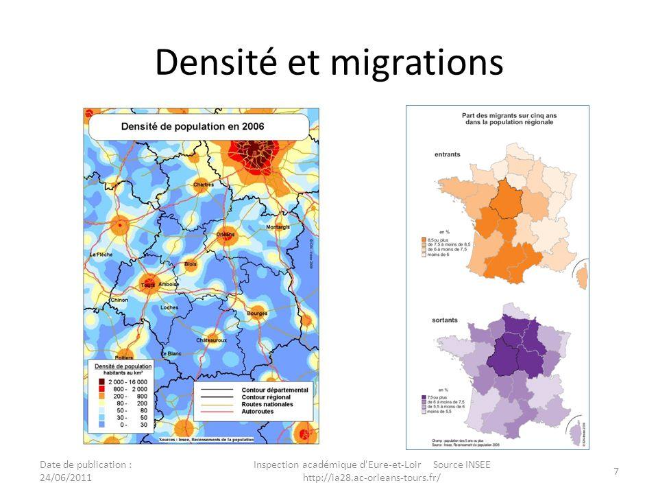Densité et migrations Date de publication : 24/06/2011