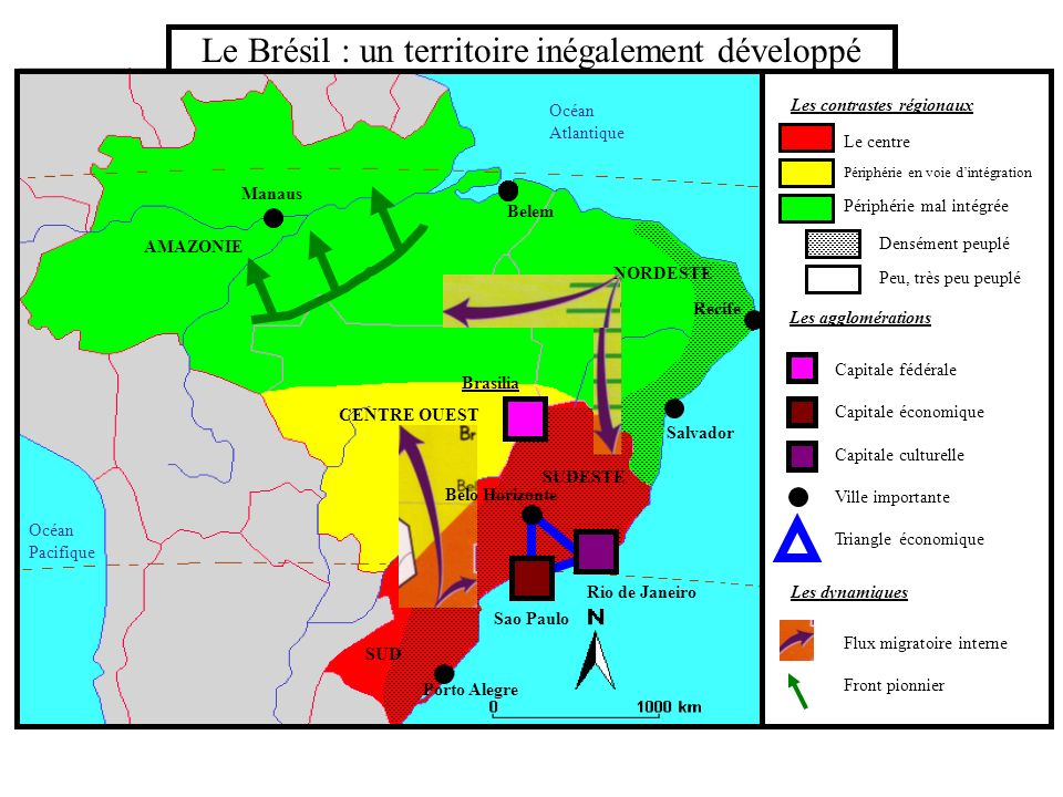 Le Brésil : un territoire inégalement développé