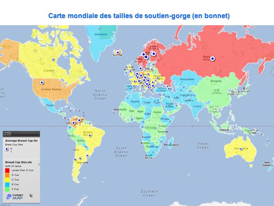 Carte mondiale des tailles de soutien-gorge (en bonnet)