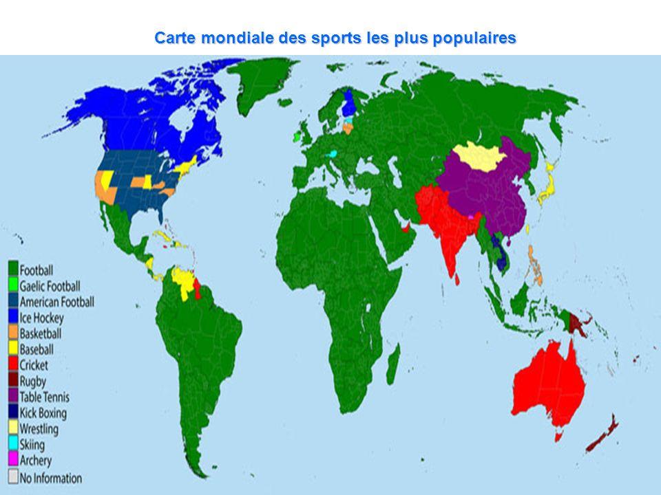 Carte mondiale des sports les plus populaires
