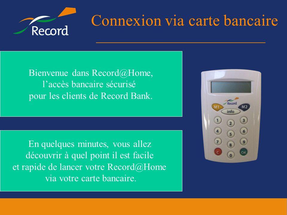 Connexion via carte bancaire