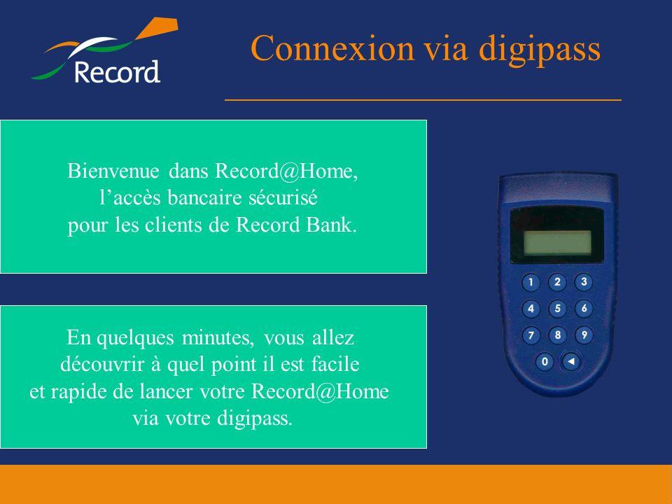 Connexion via digipass