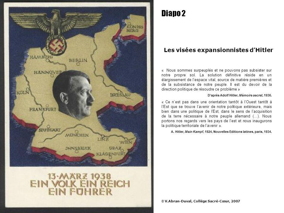 Diapo 2 Les visées expansionnistes d'Hitler