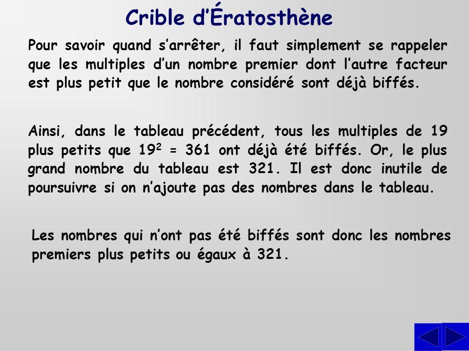 Crible d'Ératosthène