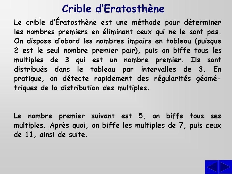 Crible d'Eratosthène