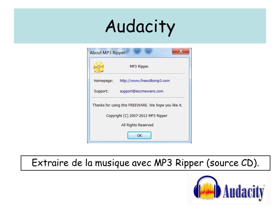 Extraire de la musique avec MP3 Ripper (source CD).