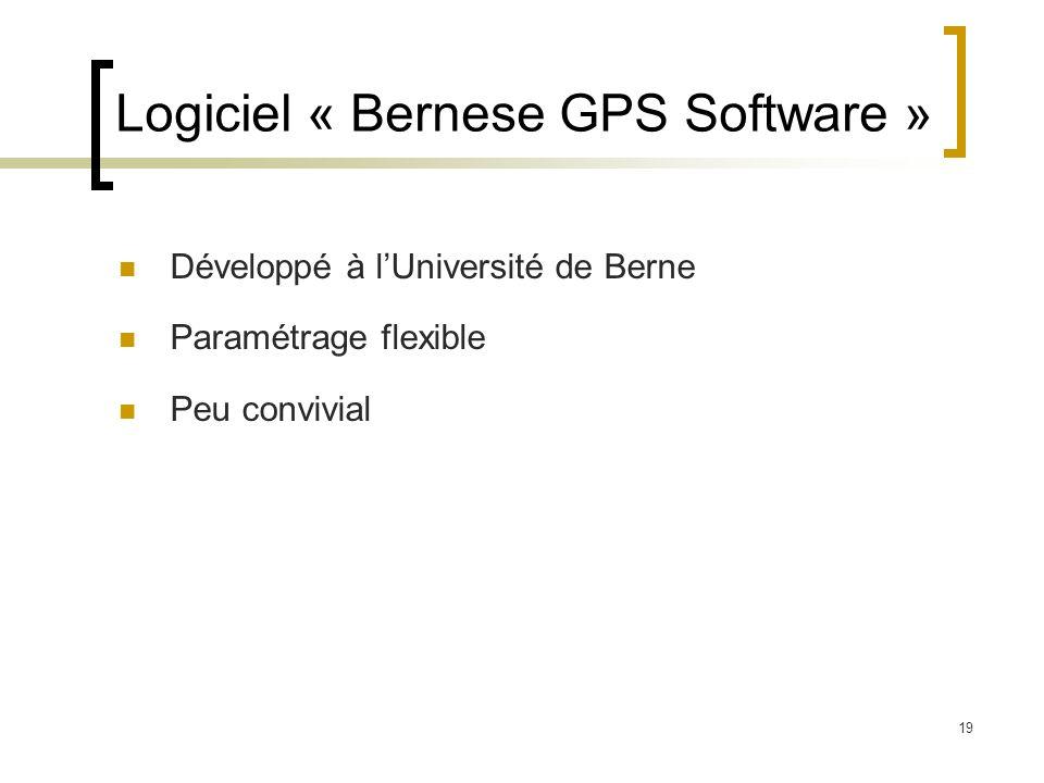 Logiciel « Bernese GPS Software »