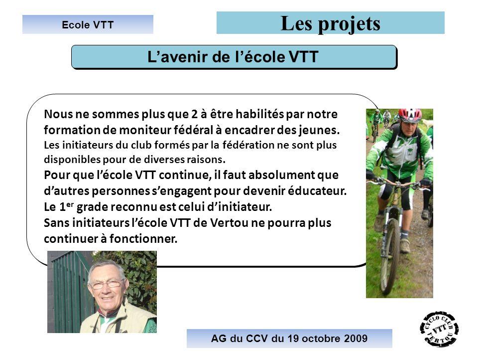 L'avenir de l'école VTT