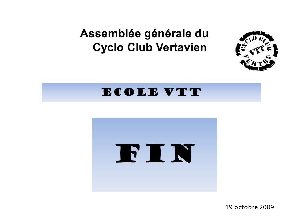 Assemblée générale du Cyclo Club Vertavien