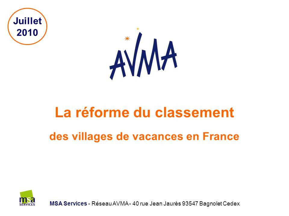La réforme du classement des villages de vacances en France