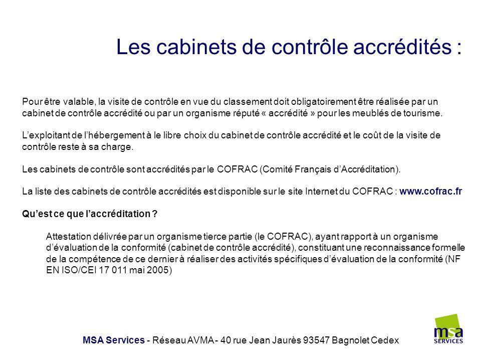 Les cabinets de contrôle accrédités :