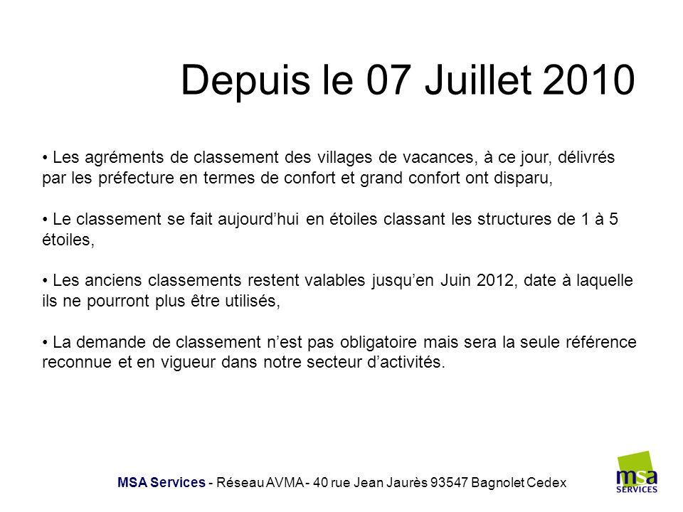 MSA Services - Réseau AVMA - 40 rue Jean Jaurès 93547 Bagnolet Cedex