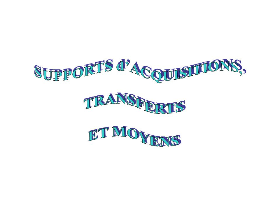 SUPPORTS d'ACQUISITIONS,